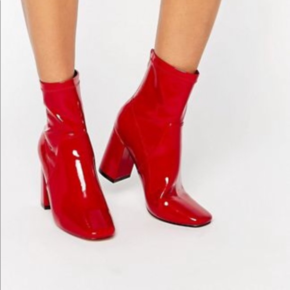 1f85a1c99d2 Truffle Collection Red Heeled Ankle Boots